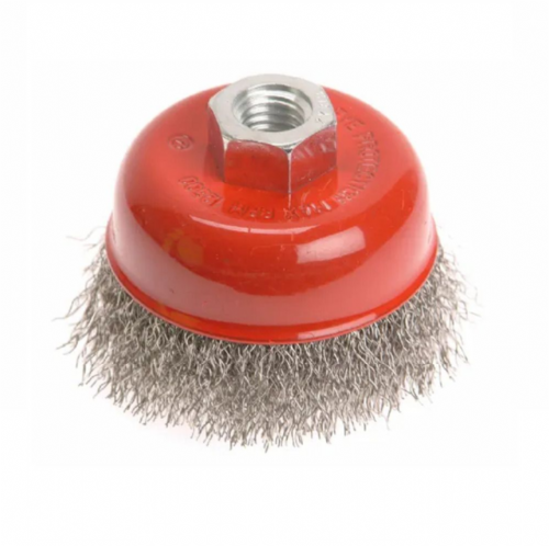 Faithfull FAIWBC80S Crimped Stainless Steel Wire Cup Brush 80mm M14x2